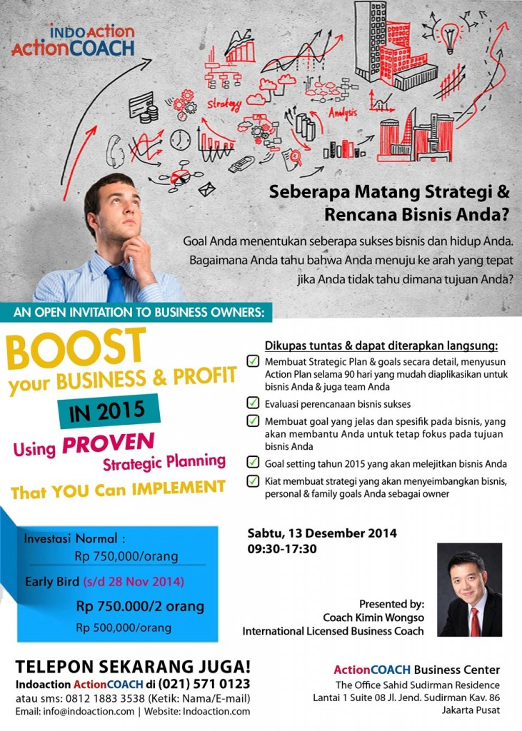Business Gathering Boost Your Profit in 2015 Using Proven Strategic Planning That You Can Implement - Coach Wongso Dec 2014 - Indoaction ActionCOACH