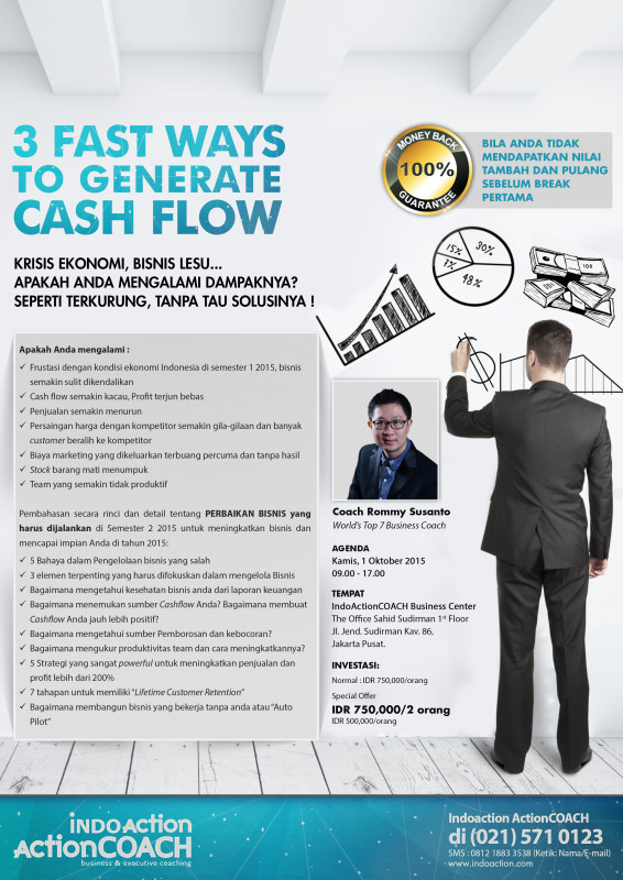 Business Gathering Oktober - 3 FAST WAYS to GENERATE CASHFLOW by Coach Rommy Susanto from Indo ActionCOACH