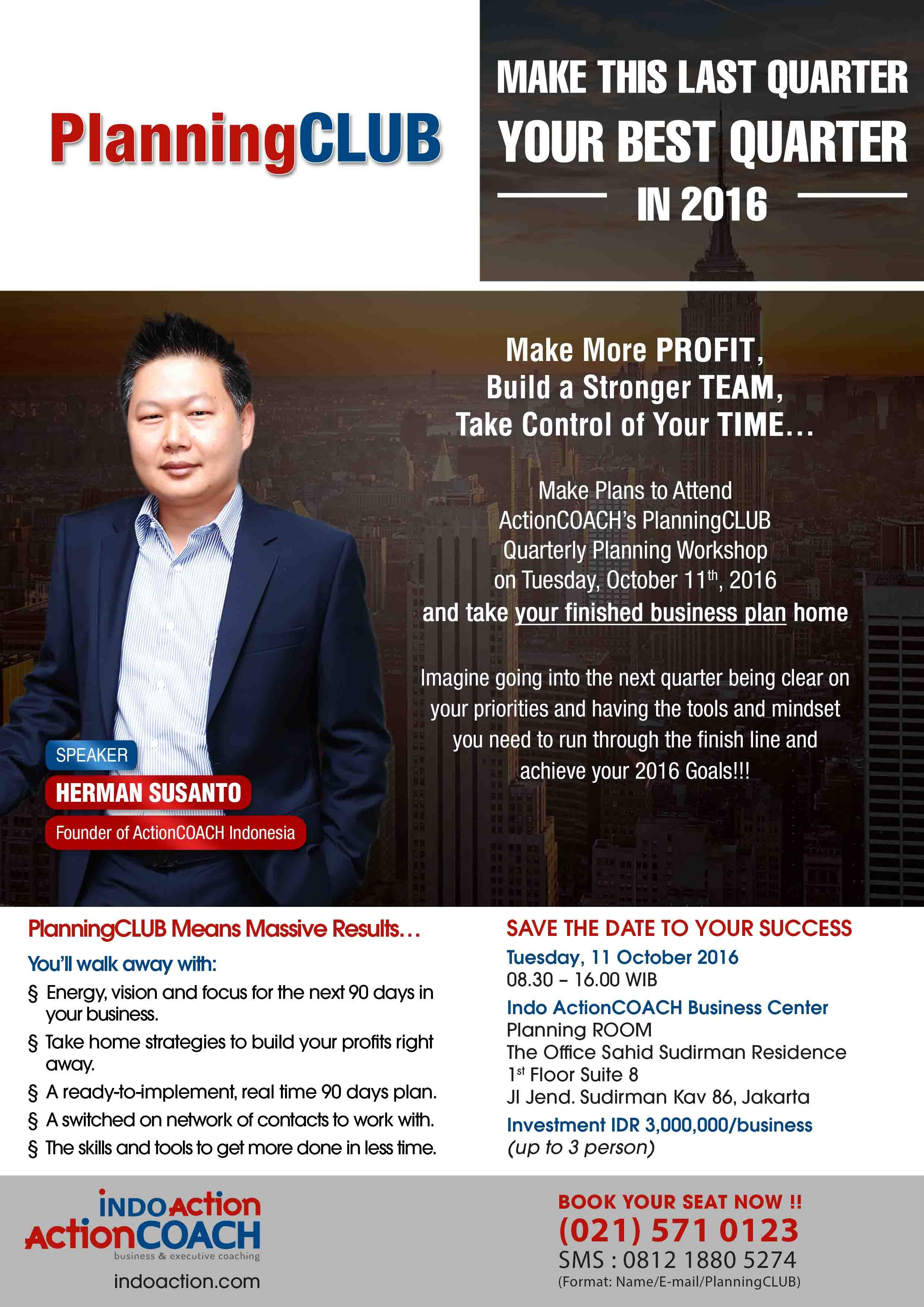 Flyer PlanningCLUB Oktober 2016